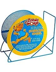 Living World Deluxe Exercise Wheel-Blue-22.5cm (9-Inch)