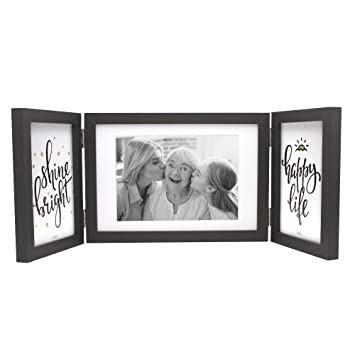 Amazoncom Afuly Three Picture Frame 4x6 And 5x7 Black Collage