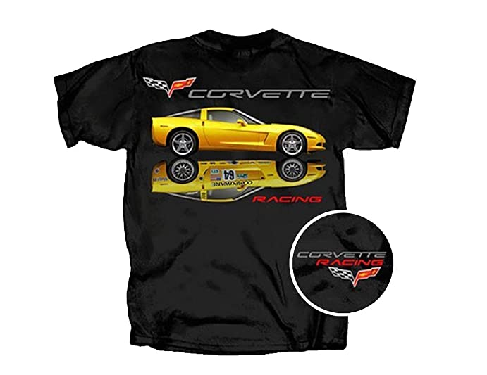 Corvette T Shirt Racing Reflection Muscle Car Clothing
