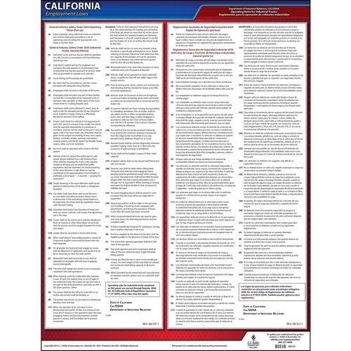 Cal / OSHAオペレーティングのルール工業トラック( Giso 3650 )ポスター – ラミネート加工ポスター B01LVU48FJ