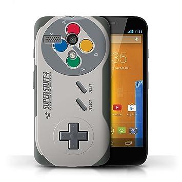 Carcasa/Funda STUFF4 dura para el Motorola MOTO G (2013) / serie: Consola de juegos - Super Nintendo