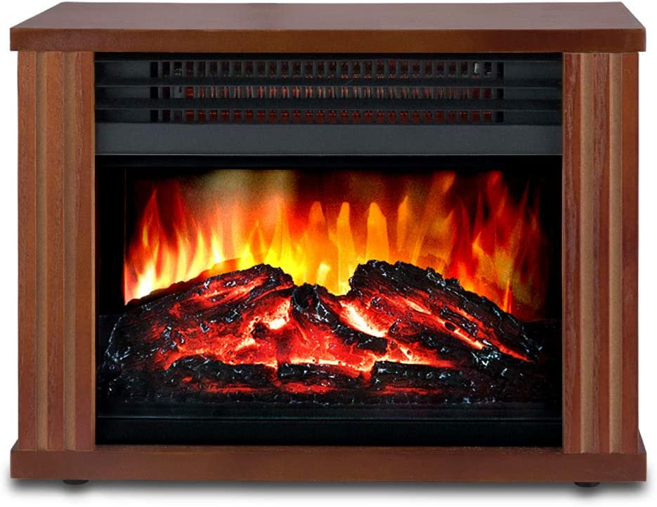 LIFEPLUS Electric Fireplace with 3D Realistic Flame Effect