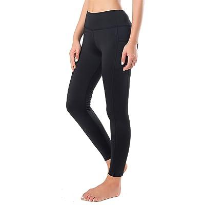 Flatik Women's Activewear Workout Yoga Pants Exercise Leggings with Side Pocket
