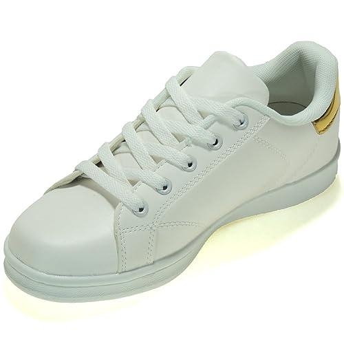 JHAYBER 1Z17A Zapatillas Deportivas Casual Que Cambian de Banco a Color Azul para Niña y Mujer: Amazon.es: Zapatos y complementos