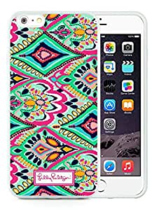 iPhone 6 Plus 5.5 inch Lilly Pulitzer 14 White TPU Phone Case Unique and Luxury Design