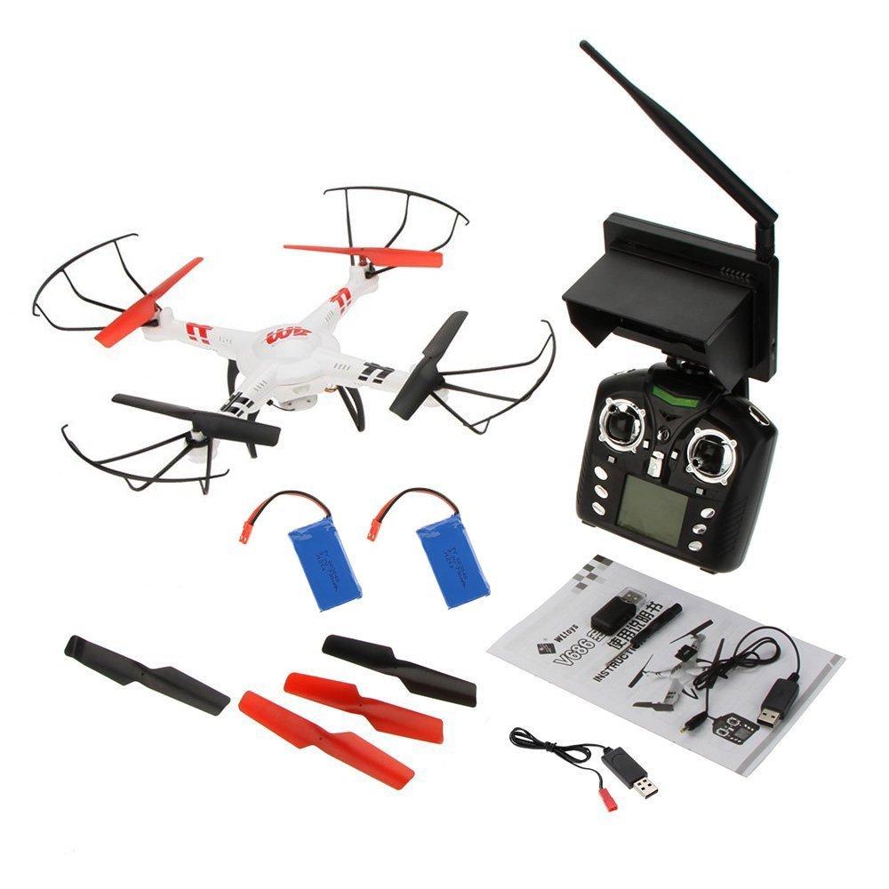Drone WL Toys V686G FPV. 2,4 Ghz. 4 canales, 2 baterias, con giróscopo de 6 ejes y Camara HD incluida. Transmision en tiempo real de imagenes del vuelo