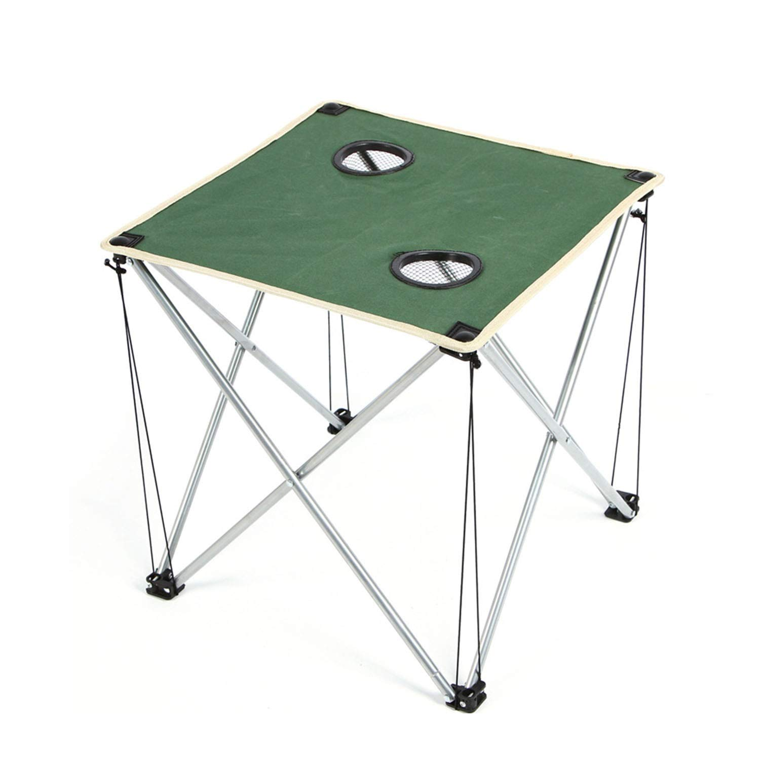 YOZOOE Oxford Cloth Coffee Table, Thicken Outdoor Folding Table, Travel/Barbecue/Beach, Ultra Light Portable Camping Supplies (Color : Green) by YOZOOE
