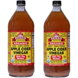Bragg Organic Raw Unfiltered Apple Cider Vinegar, 32 fl.oz (Pack of 2)
