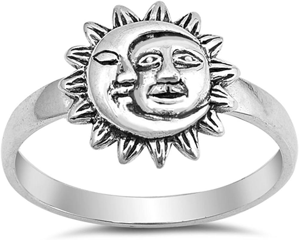 .925 Sterling Silver Sun//Moon Bead