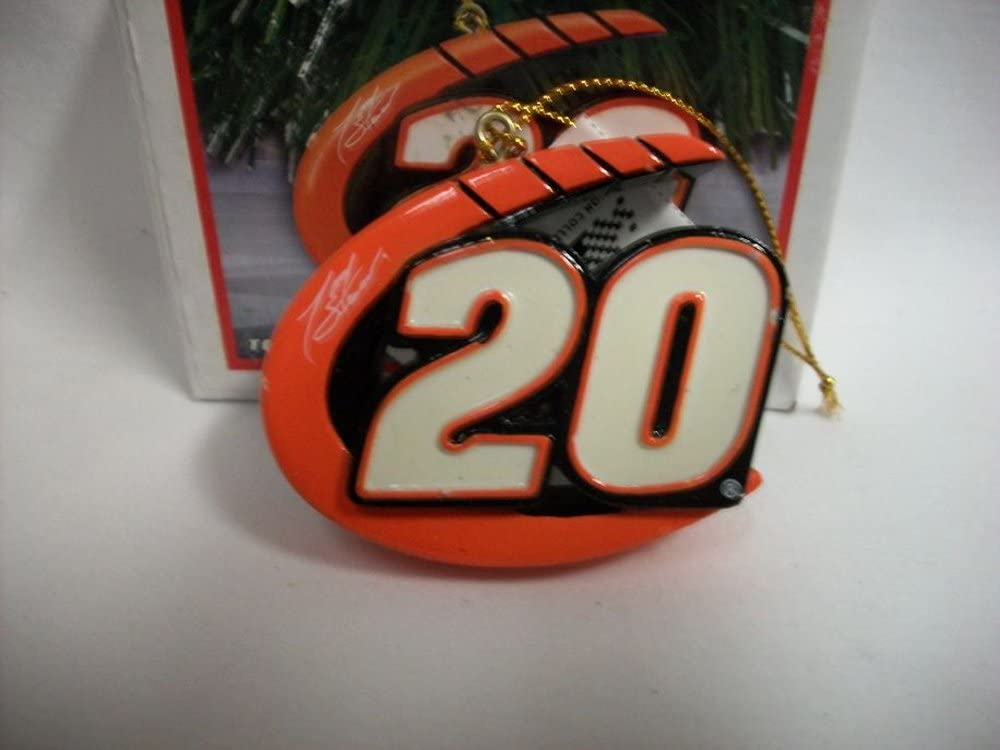Tony Stewart #20 Signature Nascar Christmas Ornament