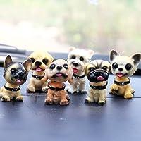 Cute Dog Bobblehead Doll Car Accessories Dashboard Decorations Car Home Office Ornaments 6 Pcs