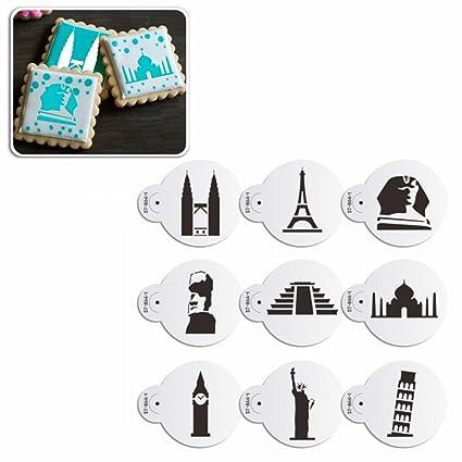 AK Art utensili da cucina 9 pz/set Eiffel Tower Cookie stencil per ...