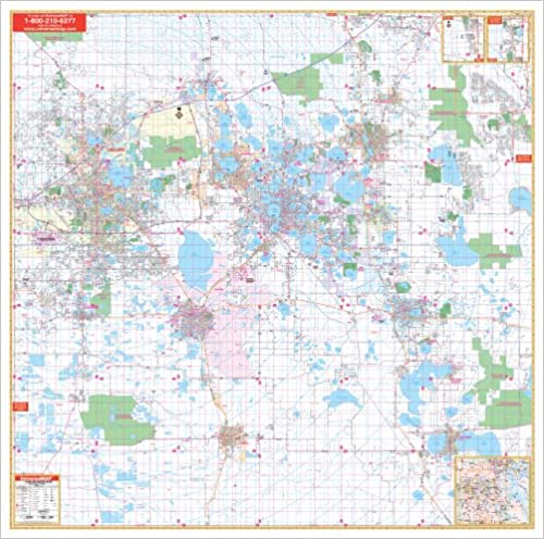 Amazon Com Polk County Fl City Wall Maps 9780762538331 Kappa