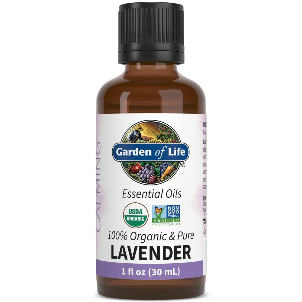 Garden of Life Essential Oil, Lavender 1 fl oz (30 mL), 100% USDA Organic & Pure, Clean, Undiluted & Non-GMO - for Diffuser, Aromatherapy, Meditation, Skincare, Sleep - Calming, Relaxing, Soothing by Garden of Life