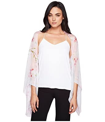 f9647eab7a5 Ted Baker womens Oriental Blossom Olah Scarf Cape Scarve - gray -   Amazon.co.uk  Clothing