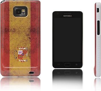 Xcessor Vintage Funda Carcasa Bandera de España Para Samsung Galaxy S2 i9100 y S2 Plus i9105. Diseño Delgado y Liviano. España: Amazon.es: Electrónica