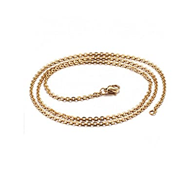 AieniD Collar Hombre Acero Inoxidable Cadena Rolo Oro Collar ...