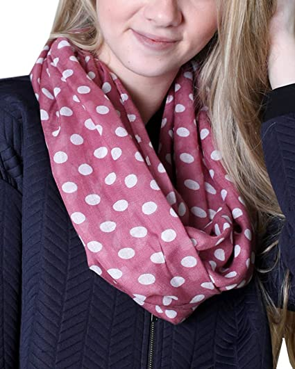Ladies Womens Light Weight Summer Scarf Printed Dots Design 2 Colours