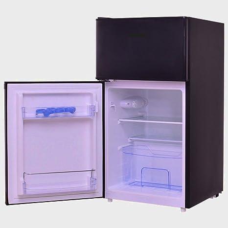 Bebidas Frigorífico pequeño negro Mini con congelador ...