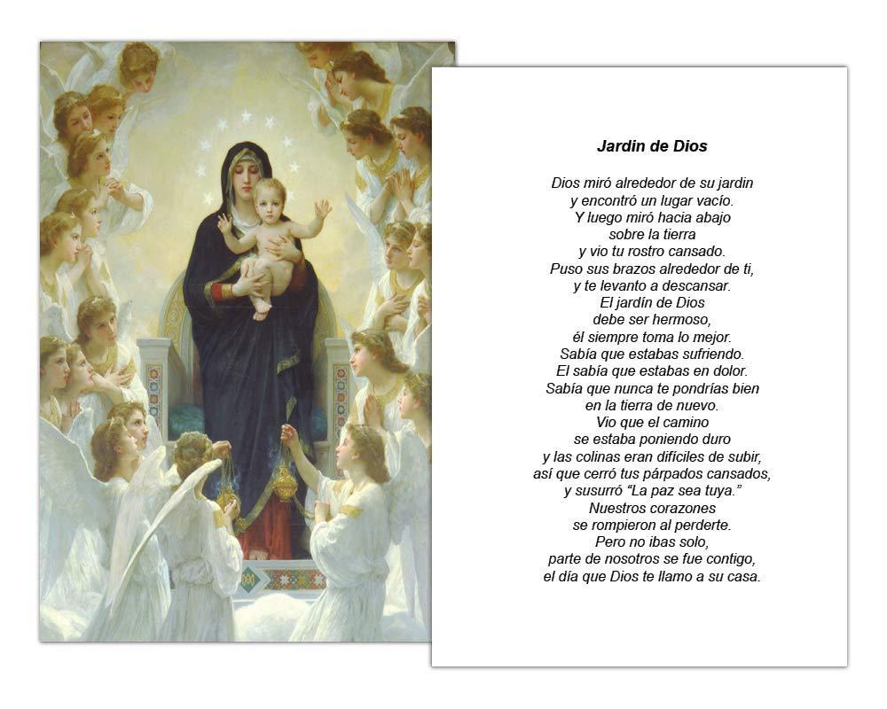Amazon.com : Targetas Funerales De Recordatorio (50 Cards) FPC1004ES Virgen con Ángeles (Impreso personalizado - Seleccione oración deseada) : Office ...