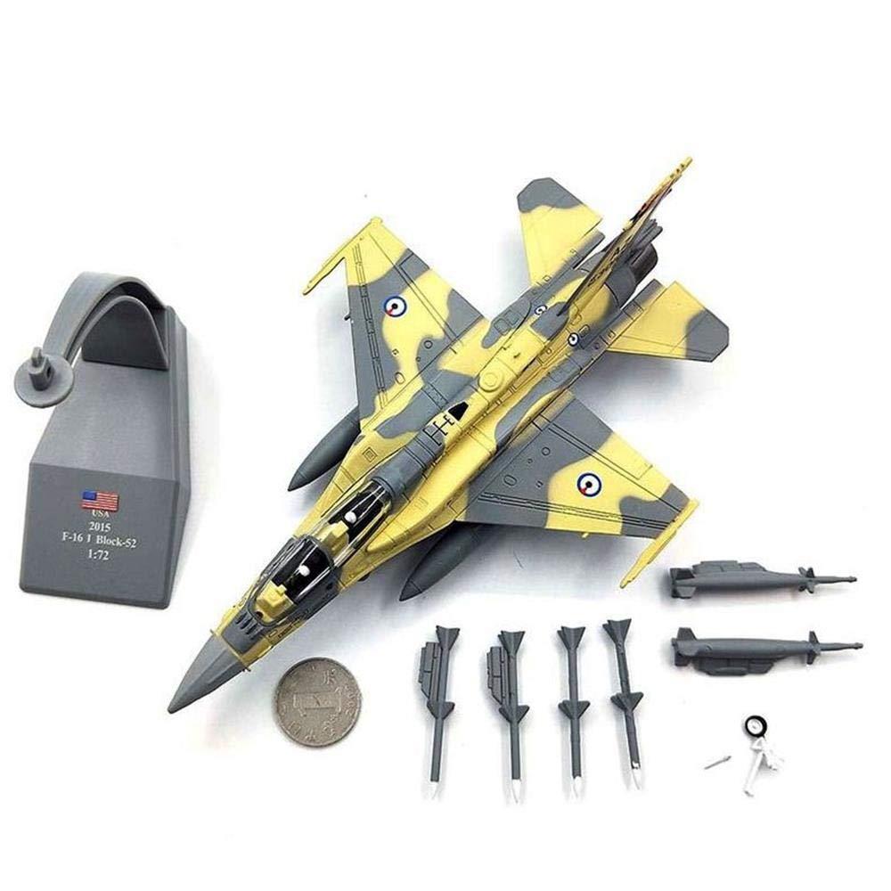 Adatto per Collezionare Decorazioni Regalo per Bambini QLRL Combattente F-16 Modello Militare F-16 Modello di Aereo in Metallo Pressofuso in Scala 1//72