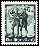 SUPERB NAZI STAMP ISSUED ON THE DAY GERM