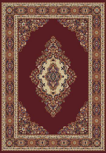 (Manhattan Cathedral Burgundy Rug Rug Size: 5'3