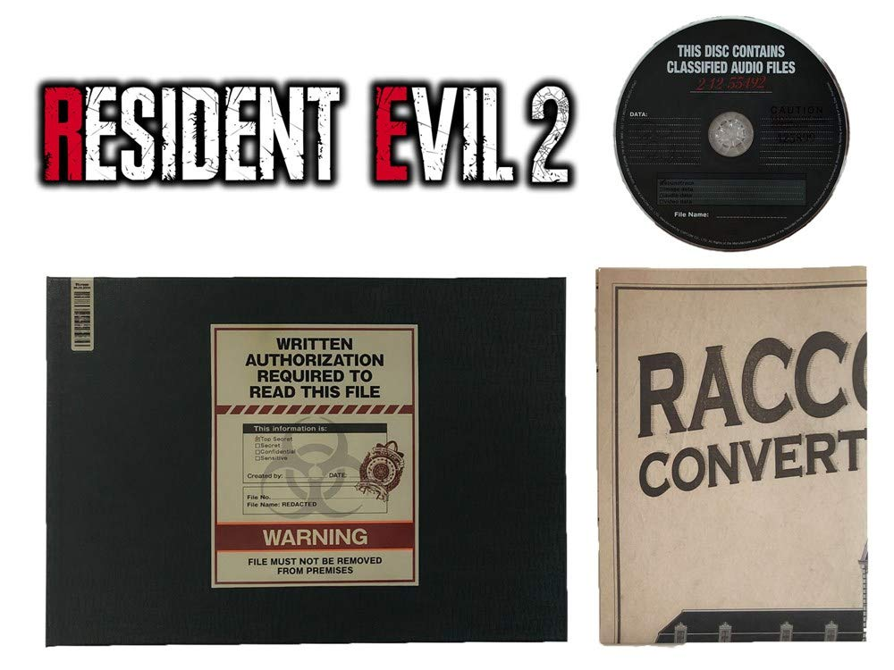 Biohazard RE:2 (Resident Evil 2) Collector's Edition Ben's File Art Book Hardcover & Original Soundtrack & Racoon Police Station Map Set