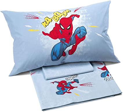 Caleffi COMPLETO LENZUOLA UNA PIAZZA DISNEY SPIDERMAN TIME LETTO SINGOLO