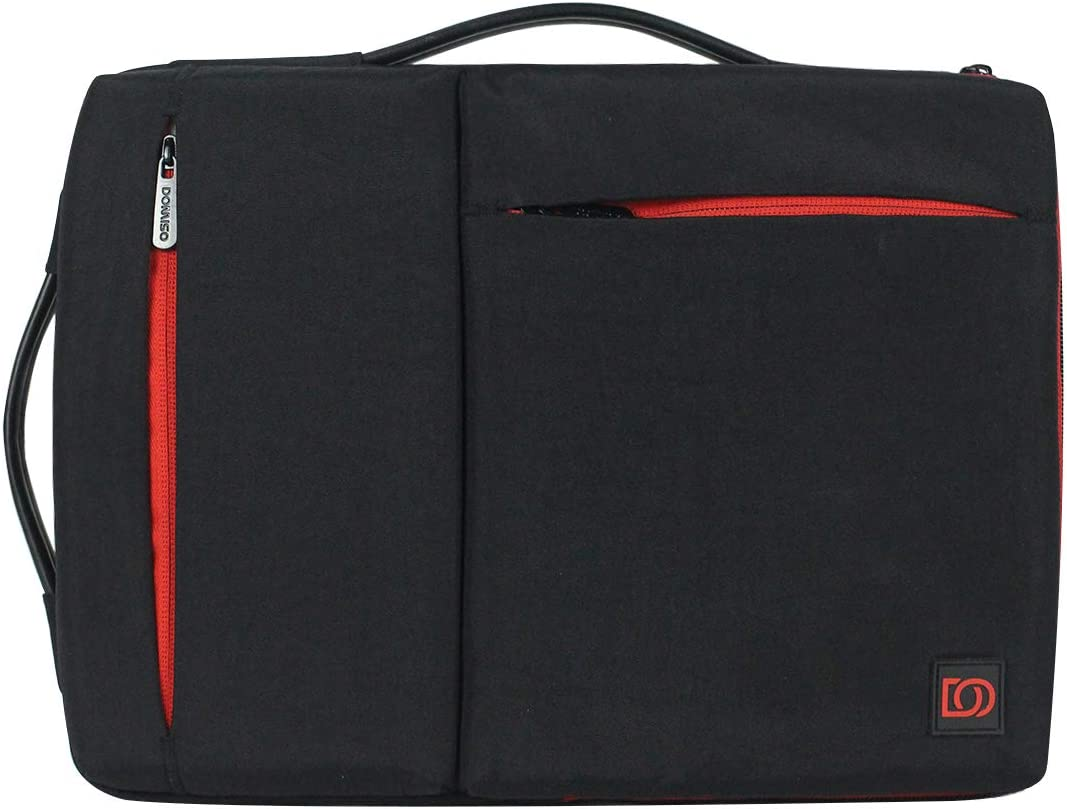 """DOMISO 14 Inch Laptop Sleeve Washed Nylon Canvas Case Tablet Bag 2 Handle Protective Case Compatible with 14"""" Lenovo ThinkPad A485/HP ProBook 640 G4/645 G4/Dell New Inspiron 5481/14"""" Acer Swift 3"""
