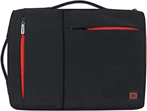 DOMISO 15.6 Inch Laptop Sleeve Washed Nylon Canvas Case Tablet Bag with 2 Handle Protective Case Compatible with 15.6