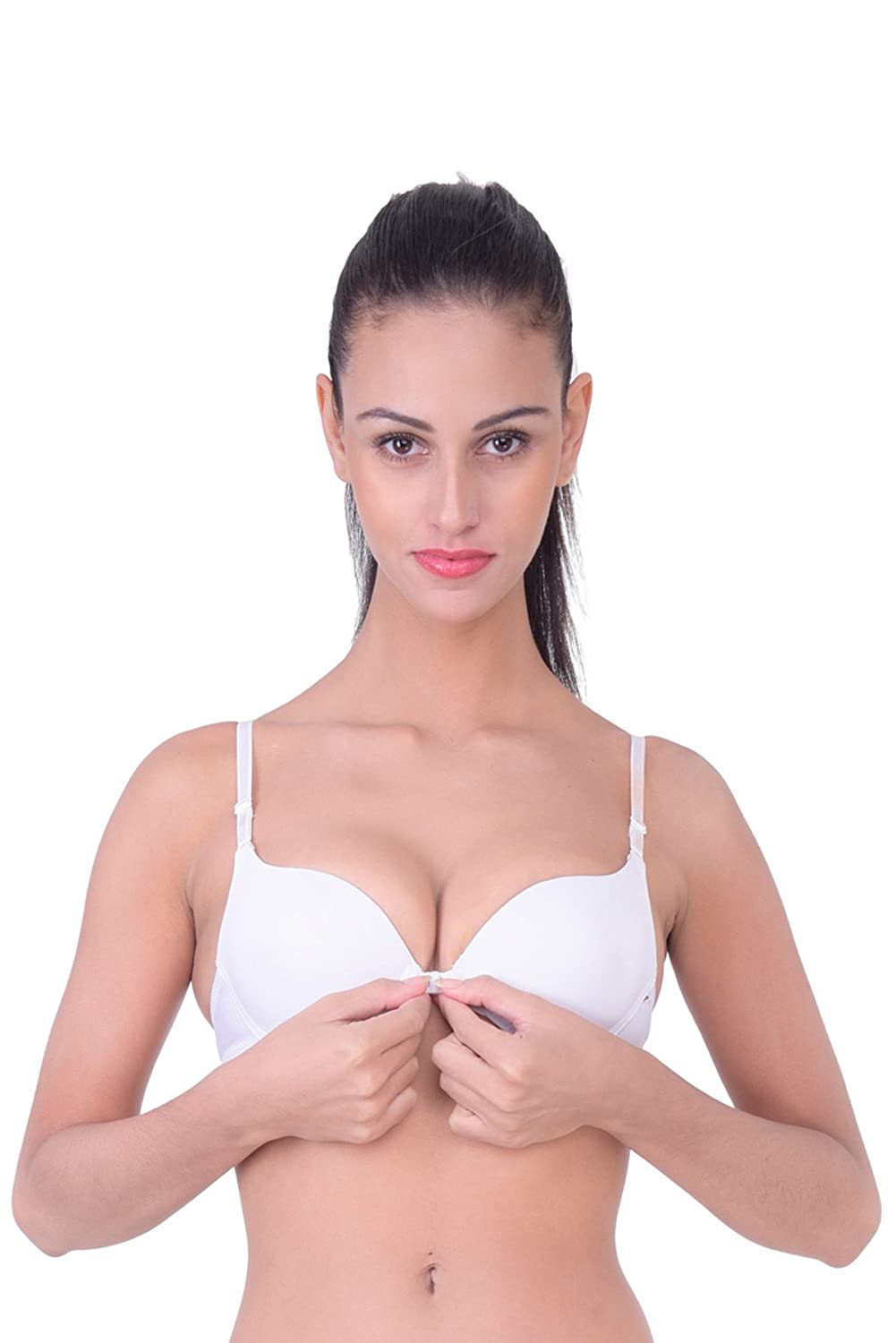 7498a72b0d Quttos Perfect Everyday Multipurpose Front-Closure Pushup Bra  Amazon.in   Clothing   Accessories