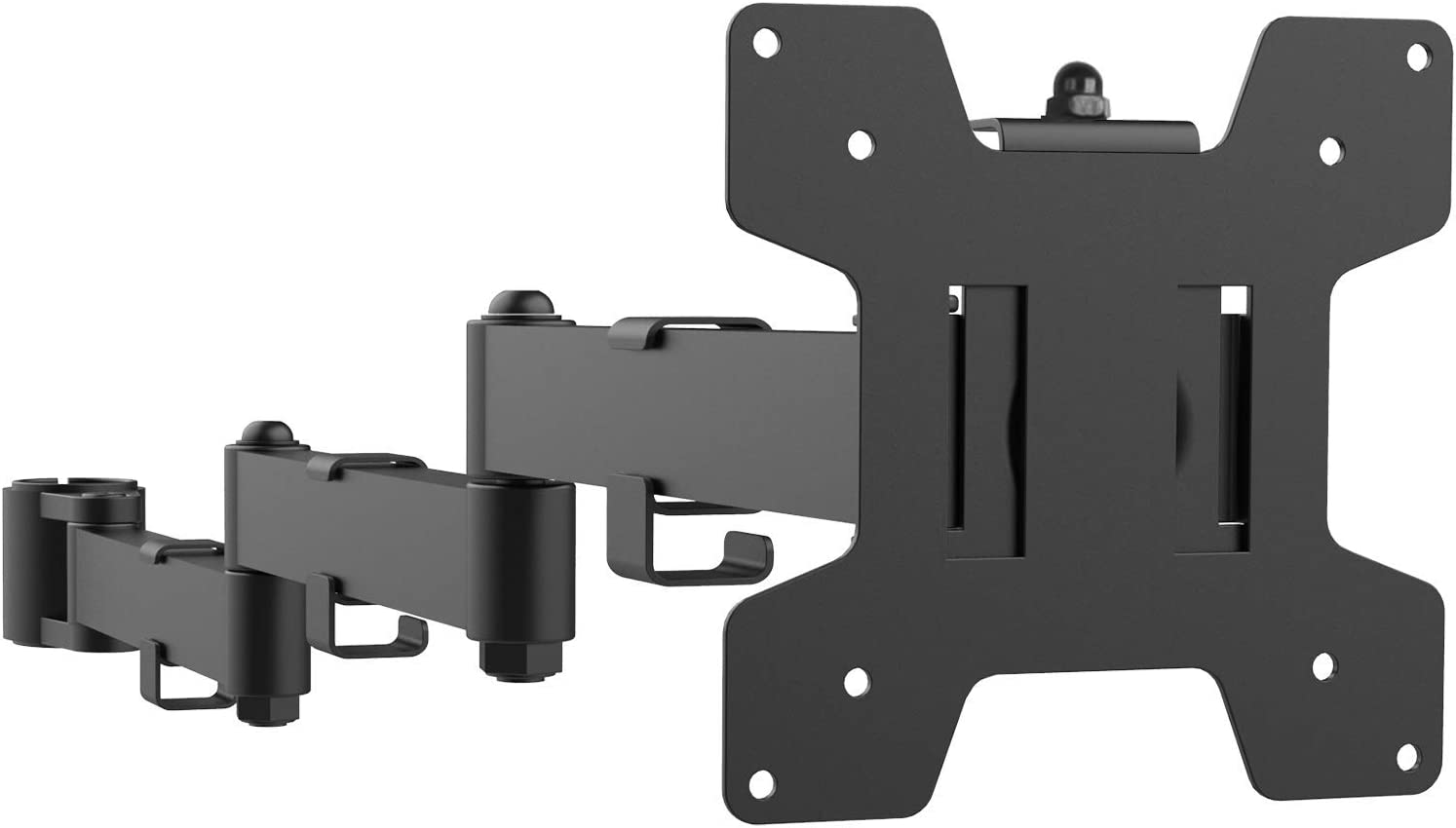 WALI Universal Single Fully Adjustable 3 Tier Arm Accessory for WALI Monitor Mounting System (001ARMXL), Black