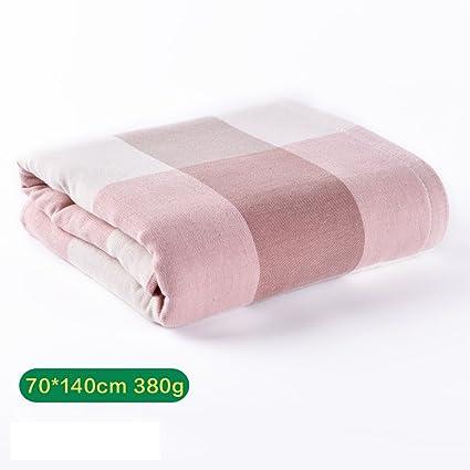 Toallas cómodas toallas suaves Clásica de algodón de gasa Aumentar engrosamiento del enrejado toalla de baño