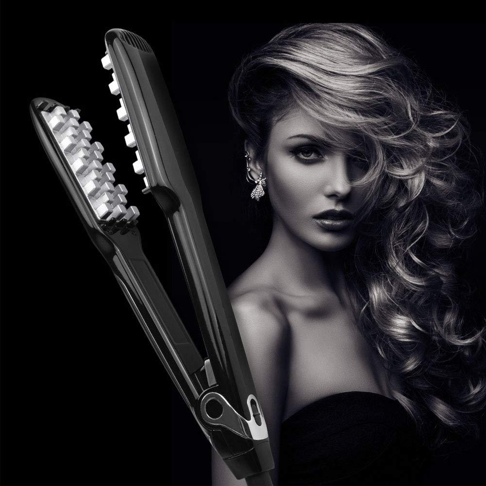 Fidgetgear Hair Volumizing Iron Flat Iron Lcd Display Hair Straightener Curling For Long Short Hair Amazon In Home Kitchen