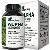 ALA + ALC Supplement - Alpha Lipoic Acid + Acetyl L Carnitine - Antioxidant Cellular Health + Repair Pills - Glucose Metabolism for Energy + Improve Cognitive Memory + Nerve Health - Nature Berg