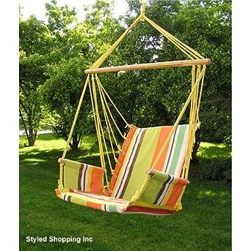 Deluxe Rainbow Hanging Hammock Swing Chair