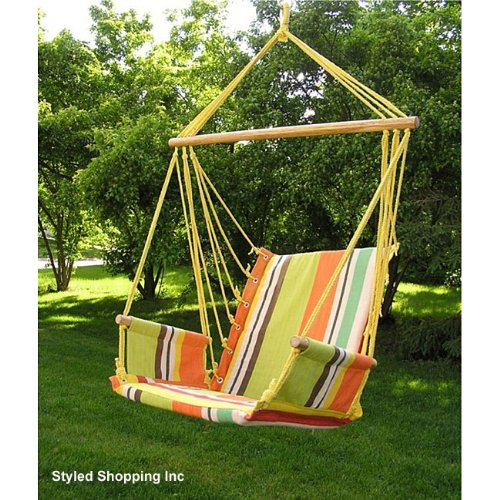 Styled Shopping Deluxe Harmony Rainbow Hanging Hammock Sky Swing Chair