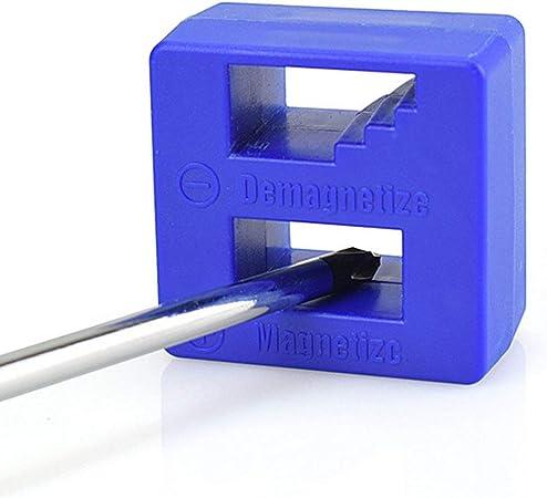 Heaviesk Mini desmagnetizador de magnetizador rápido portátil Herramienta de Recogida magnética para Puntas de Destornillador Herramienta de reparación magnética de Punta de Tornillo: Amazon.es: Hogar