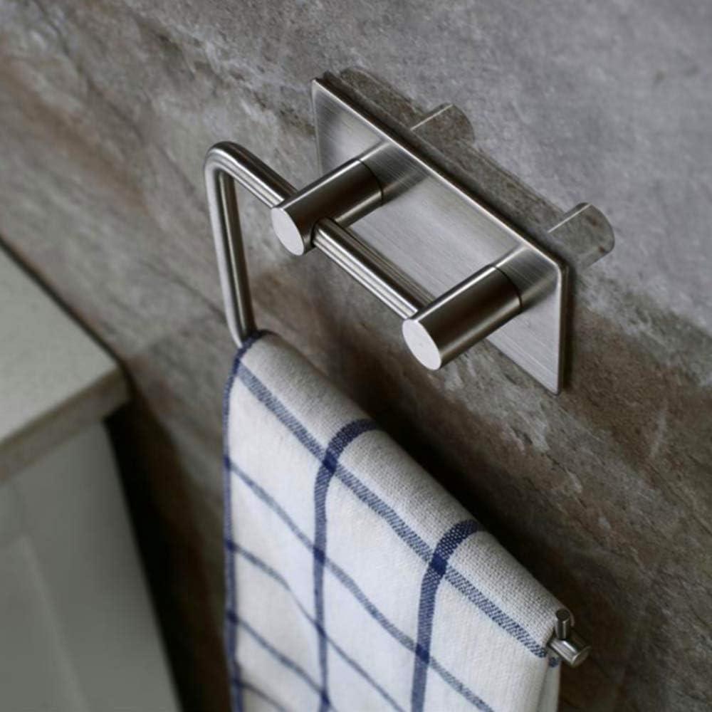 montaje en pared Soporte autoadhesivo para papel higi/énico SUS 304 de acero inoxidable plata dispensador de toallas de papel de estilo contempor/áneo Rectangular