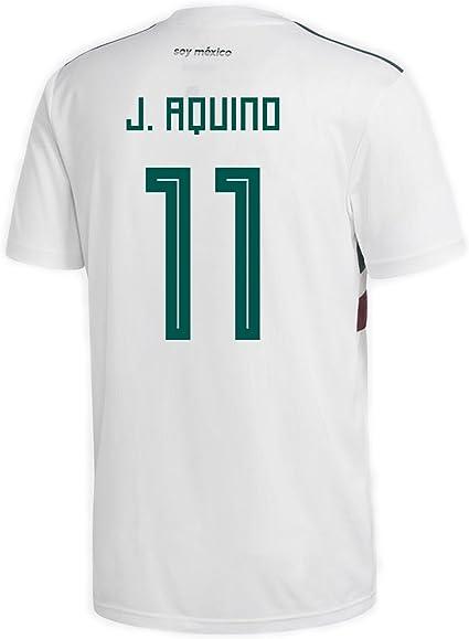 Amazon.com : adidas J. Aquino #11 Mexico Away Men's Soccer Jersey ...