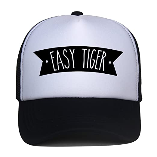 4aa428896e9 Kids Trucker Hat Easy Tiger Print Child Baby Boy Girl Funny Summer Mesh Baseball  Caps Son