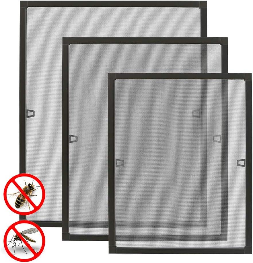 rejilla de aluminio y fibra de vidrio marco tensor Mosquitera para ventana de Aufun protecci/ón contra insectos para mosquitera