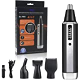 Rechargeable Nose Hair Trimmer 4 In 1 Ear hair Trimmer Eyebrow Trimmer Sideburns Trimmer Beard Trimmer Stainless Steel Waterproof Blade Personal Hair Remover Set