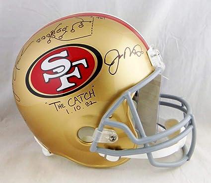 ed5cfa56614 Amazon.com  Joe Montana Dwight Clark Signed 49ers F S Helmet The ...