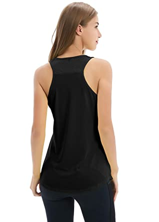 14213c48e437f Yucharmyi Women Yoga Shirts Sexy Yoga Tops Activewear Workout Clothes  Sports Racerback Tank Tops with Back