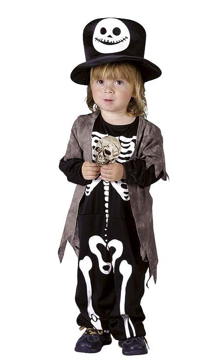 Disfraz esqueleto de la noche niño Halloween 3 a 4 años ...