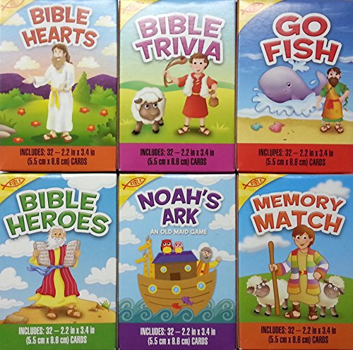 Bumper Pack of Six Children's Christian Bible Card Games