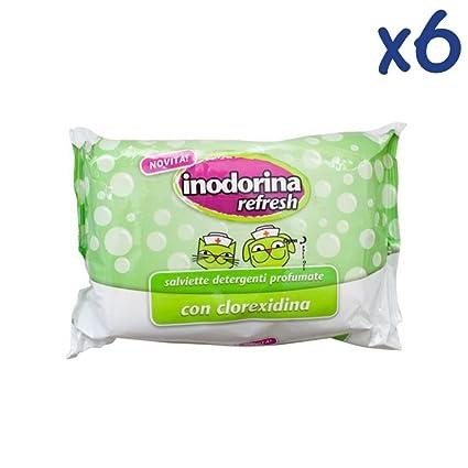 Inodorina Refresh - Toallitas húmedas perfumadas para la higiene de perros y gatos, adultos y