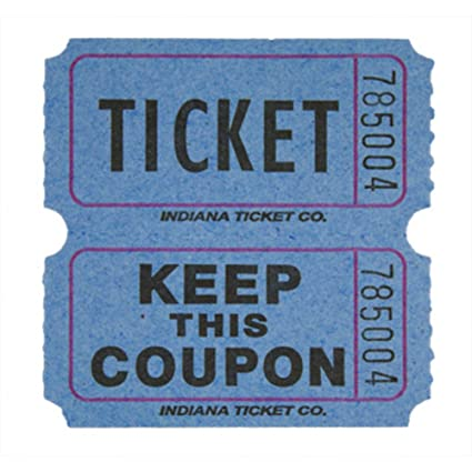amazon com raffle tickets blue 1000 per roll 50 50 fun fair toys